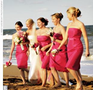 Свадьба в цвете фуксии