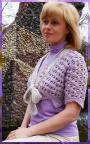 Жакет-болеро  Сиреневая мечта